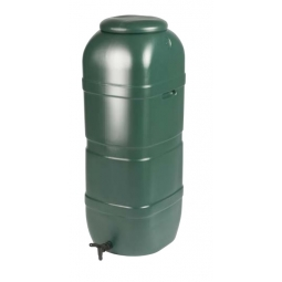 Strata 100L Slimline Water Butt including Tap and Lockable Lid - Green