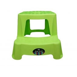 Green Children 2 Tier Step Plastic Stool Bathroom Reaching Stool Home Ktichen