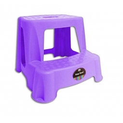 Purple Children 2 Tier Step Plastic Stool Bathroom Reaching Stool Home Ktichen