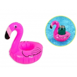 Inflatable Blow Up PVC Floating Pool Cup Can Drinks Holder Pink Flamingo