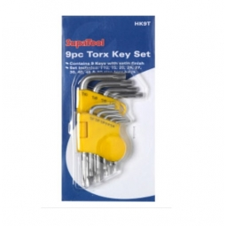SupaTool 9 Piece Torx Key Set T10 T15 T20 T25 T27 T30 T40 T45 T50 In Case