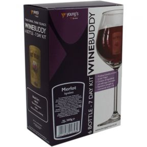 Wine Buddy Home Brewing Kit Make Your Own Wine Makes 6 Bottles - Merlot