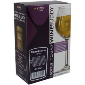 Wine Buddy Home Brewing Kit Make Your Own Wine Makes 6 Bottles - Chardonnay