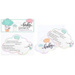 12 Baby Shower Mum To Be Keepsake Advise Cards Clouds Novelty Fun Expecting