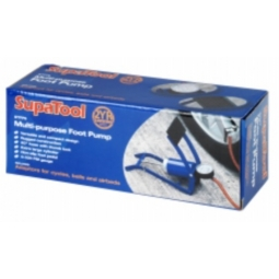 SupaTool Multi-Purpose Foot Pump - Adaptors for cycles, balls and airbeds