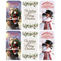 Set Of 6 Traditional Christmas Money Wallets Gift Cards Vouchers & Envelopes