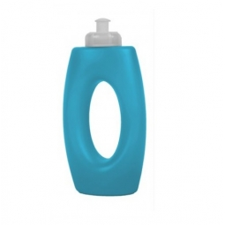 Blue Coloured Plastic Sports Cap Drinking Bottle With Handle Water Juice 400ml