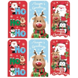 Set Of 6 Cute Santa Christmas Money Wallets Gift Cards Vouchers With Envelopes