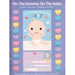 Pin The Dummy On The Baby - Baby Shower Game & Certificate