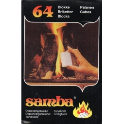 Samba Firelighters Fire Starter Cubes Indoor Outdoor BBQ Wood Burner 64 Blocks