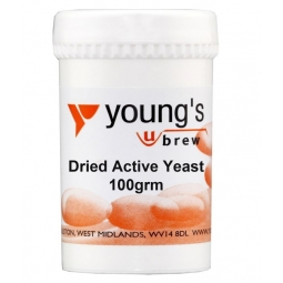 Youngs Home Brewing Dried Active Yeast For Beer & Winemaking 100g