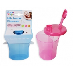 1 Blue Portable Baby Food Milk Powder Dispenser Travel Bag Pot 3 Section Tub