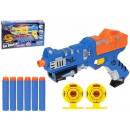Action Reload Soft Foam Bullet Air Blaster Dart Gun With Targets Age 6+