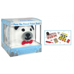 Novelty Family Christmas Party Game 8 Novelty Gifts Pass The Parcel Polar Bear