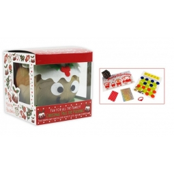 Novelty Festive Pass The Parcel Christmas Pudding Party Game 8 Player