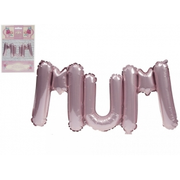 Large 30 Inch 75cm MUM Letter Text Balloon Mothers Day Birthday Inflate Your Own