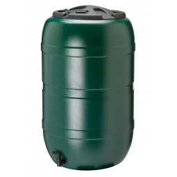 Strata 210L Large Green Barrel Garden Water Butt With Tap And Lid 97cm x 57cm