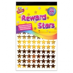 Artbox Teacher Reward Stars Over 600 Stickers Gold Silver Bronze Coloured Stars