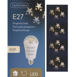 Lumineo E27 Christmas Snowflake Projector Indoor LED Light Bulb Warm White