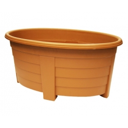 Terracotta Oval Planter Trough Patio Plant Pot Large 55cm In Outdoor Flower Tub
