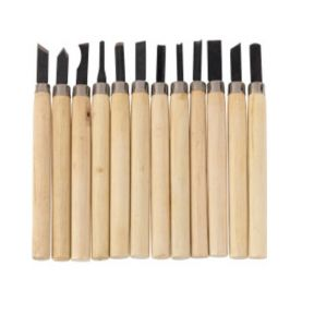 SupaTool Pack Of 12 Small Hand Sculpters Chisel Set Hobby Crafts DIY Woodwork