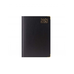 Black 2021 Week To View Diary