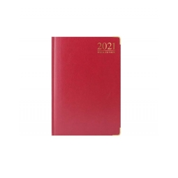 Red 2021 Week To View Diary