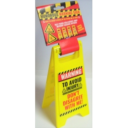Adult Humorous Slogan 10'' x 5'' Plastic Frame Funny Warning Sign 2 Sided