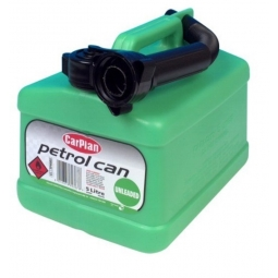Car Plan 5L Green Capacity Petrol Fuel Can Unleaded Petrol With Pouring Spout