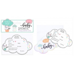 12 Baby Shower Game Prediction Cards Clouds Keepsake Cards With Envelopes