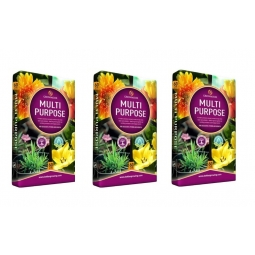 ALCESTER RESIDENTS SPECIAL OFFER : 3 x Growmoor 60L Bag Of Multi Purpose Garden Potting Compost Bed Borders Baskets