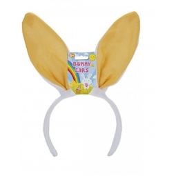 Yellow Fabric Easter Bunny Ears Super Soft Cute Kid Spring Fancy Dress Headband