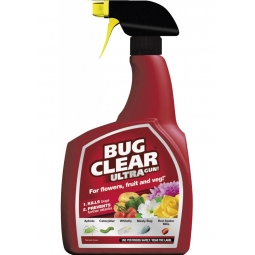 Bug Clear Ultra Trigger Bug Killer For Flowers Fruit & Veg 1L Aphids Whitefly