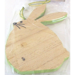 Green Easter Bunny Decoration Hanging Wooden Easter Bunny Plaque