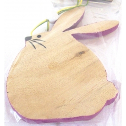 Purple Easter Bunny Decoration Hanging Wooden Easter Bunny Plaque