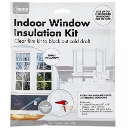 Energy Saving Window Insulation Kit Draught Excluder Clear Film Block Frost Cold