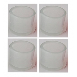 Set of 4 Decorative Tea Light Candle Holder 6.5 x 5.7cm Smoked White