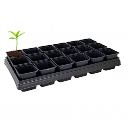 Grow Tray With 18 Square Pots