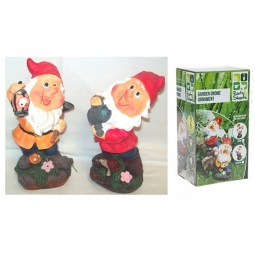Small Novelty Colourfull Polystone Garden Gnome Ornament Decoration 20cm x 10cm (One Of Each)