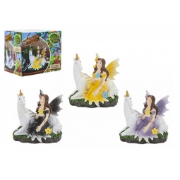 The Fairies Enchanted Garden 1 Glitter Wing Fairy With Magical Unicorn Assorted