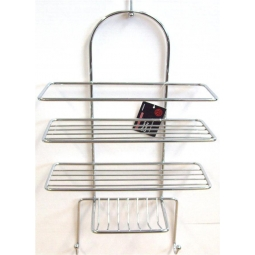 SupaHome Chrome Plated Shower Caddy Shower Rack With Hanger 3 Tier