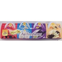 Pan Aroma Mini Gel Air Fresheners - Pack Of 4 Assorted