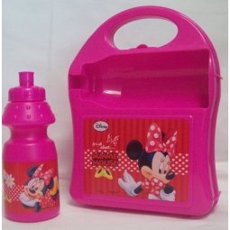 Disney Minnie Mouse Carry-along Hardcase Lunch Box with Sport Bottle 350ml