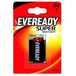 Eveready Super Heavy Duty 9V Battery Long Lasting E Block 6F22 Universal
