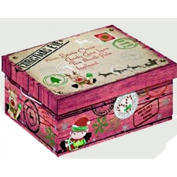 Large North Pole Christmas Eve Shoe Gift Pj Box Delivery 33cm x 23cm x 16cm