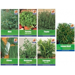 7 Packs Garden Herb Collection Seeds Thyme Basil Chive Parsley Mint Tarragon