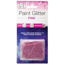 Pink Paint Glitter Adds Sparkle To Wall Emulsion & Varnish Pour Mix Decorate 28g