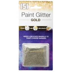 Gold Paint Glitter Adds Sparkle To Wall Emulsion Varnish Pour Mix Decorate 28g