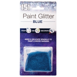 Blue Paint Glitter Adds Sparkle To Wall Emulsion Varnish Pour Mix Decorate 28g
