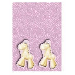 2 Sheets Of Pink Gift Wrapping Paper & 2 Giraffe Gift Tags 50cm x 70cm Sheets